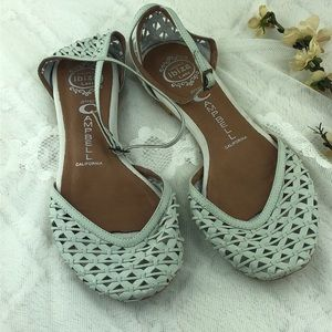 Jeffrey Campbell Leather Lattice White Flats